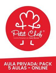 Aula Privada Cozinha - 1 Pax -  Pack 5 aulas